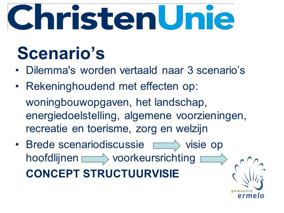 Scenario's Dilemma s worden vertaald naar 3 scenario's