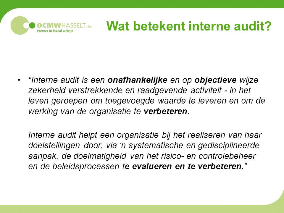 Wat betekent interne audit