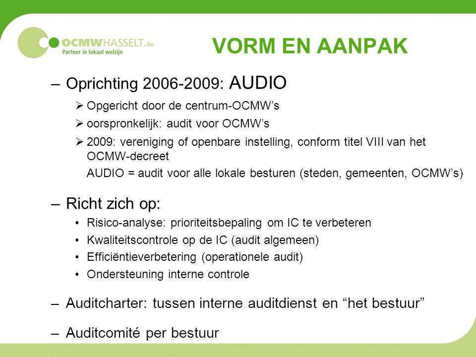 VORM EN AANPAK Oprichting 2006-2009: AUDIO Richt zich op: