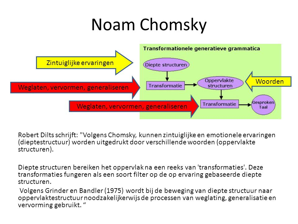 Noam Chomsky Zintuiglijke ervaringen Woorden