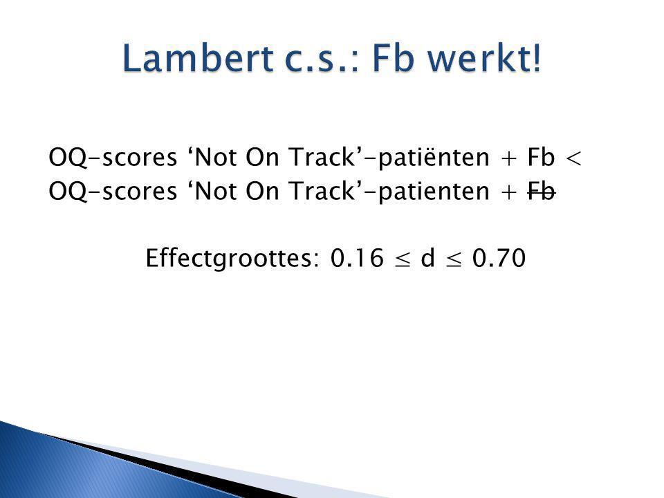 Lambert c.s.: Fb werkt.