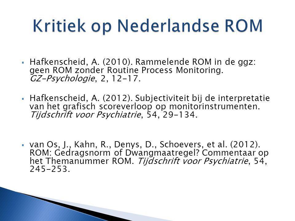 Kritiek op Nederlandse ROM