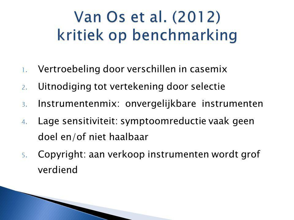 Van Os et al. (2012) kritiek op benchmarking