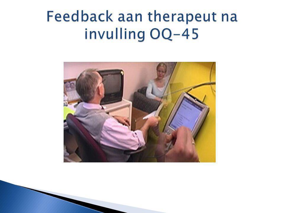 Feedback aan therapeut na invulling OQ-45