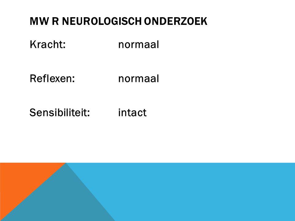 Mw R Neurologisch onderzoek
