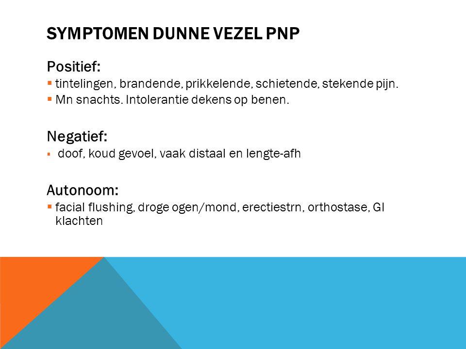Symptomen dunne vezel pnp