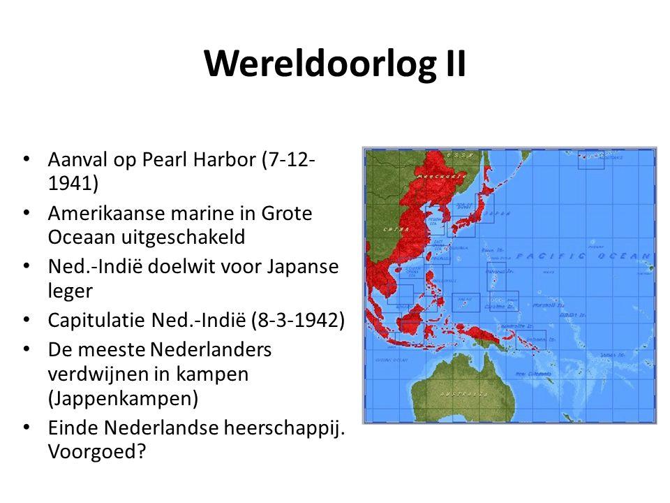 Wereldoorlog II Aanval op Pearl Harbor (7-12-1941)