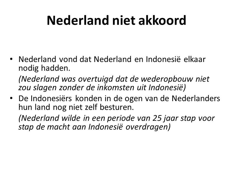Nederland niet akkoord