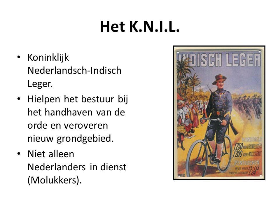 Het K.N.I.L. Koninklijk Nederlandsch-Indisch Leger.