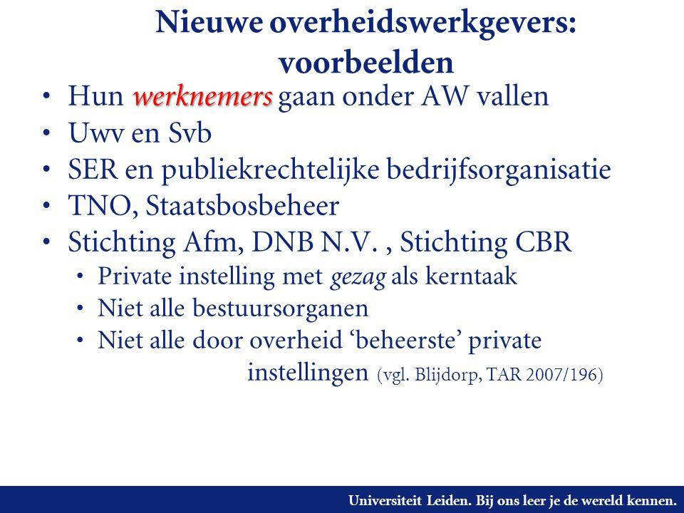 Nieuwe overheidswerkgevers: voorbeelden
