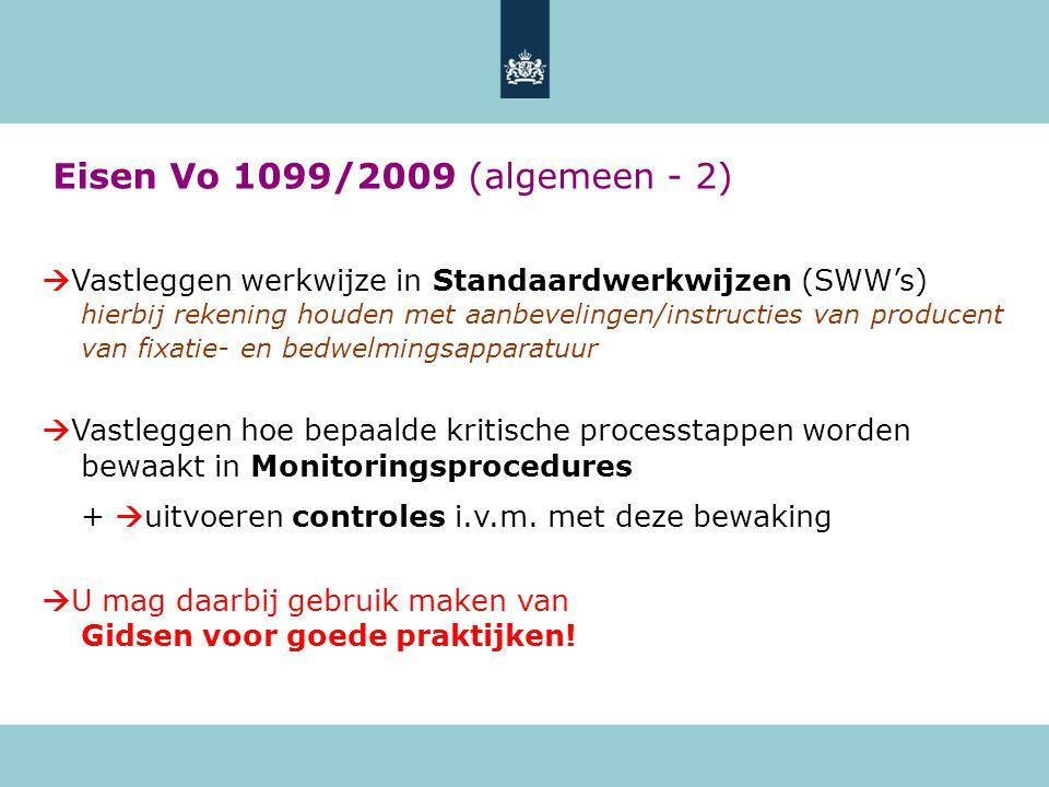Eisen Vo 1099/2009 (algemeen - 2)