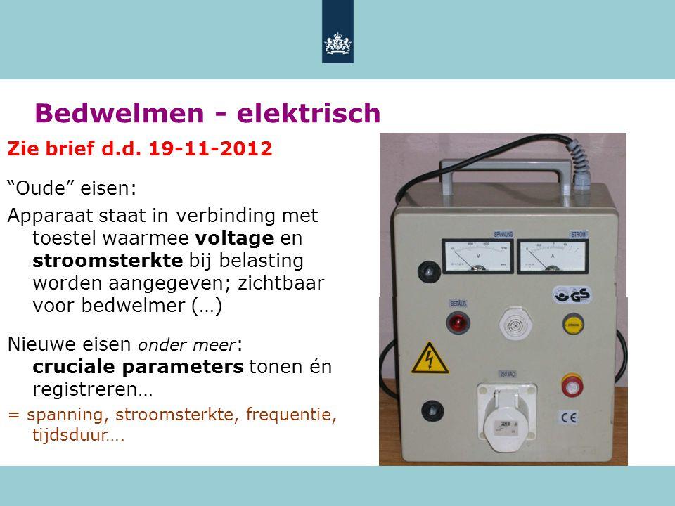 Bedwelmen - elektrisch