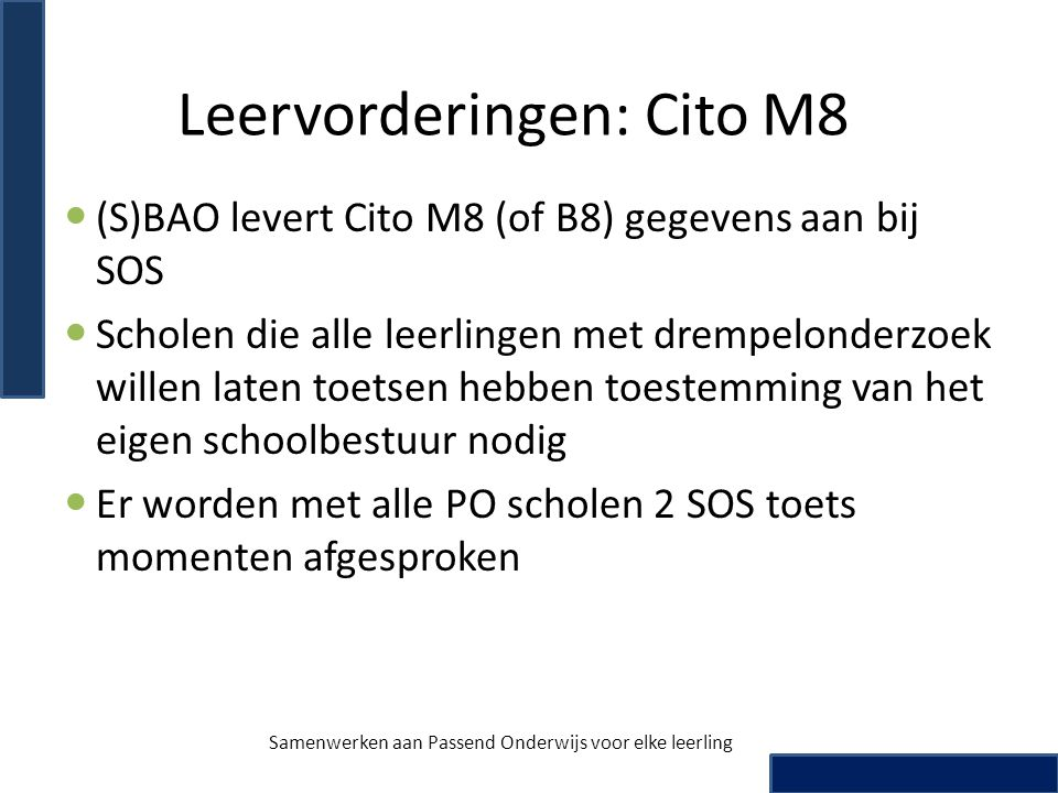 Leervorderingen: Cito M8
