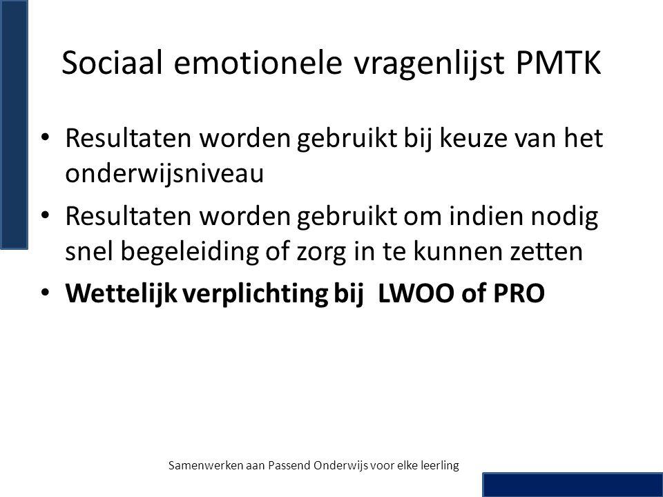 Sociaal emotionele vragenlijst PMTK