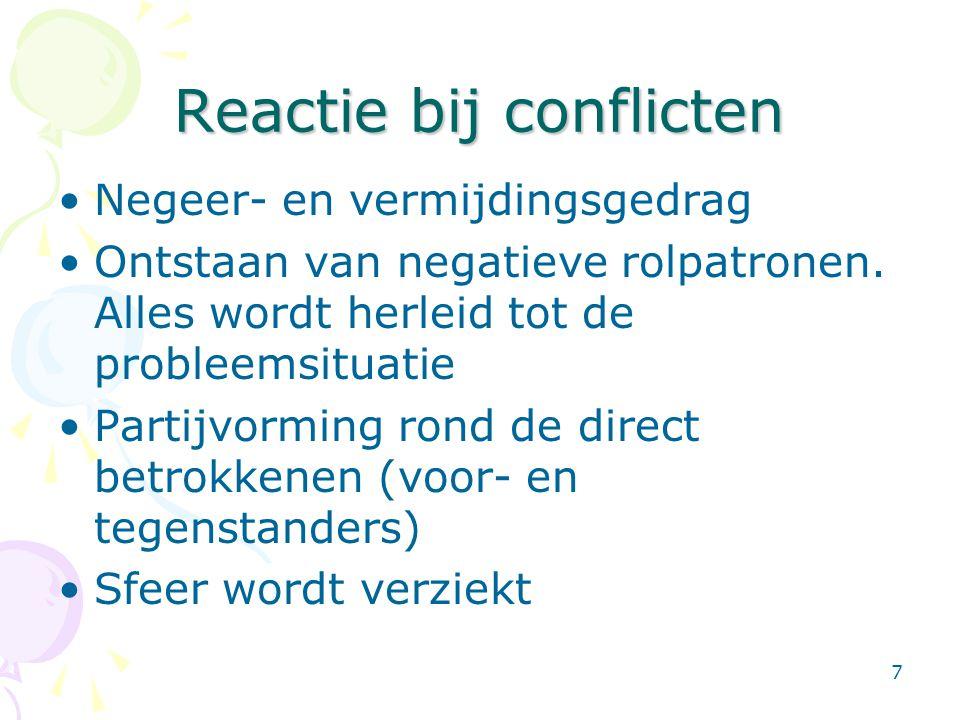 Reactie bij conflicten