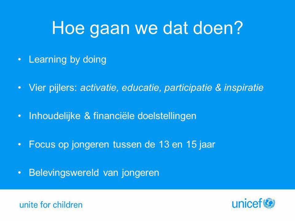 Hoe gaan we dat doen Learning by doing