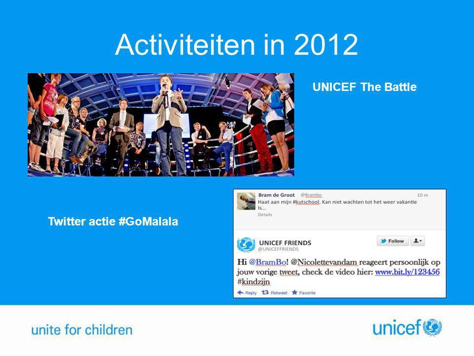 Activiteiten in 2012 UNICEF The Battle Twitter actie #GoMalala