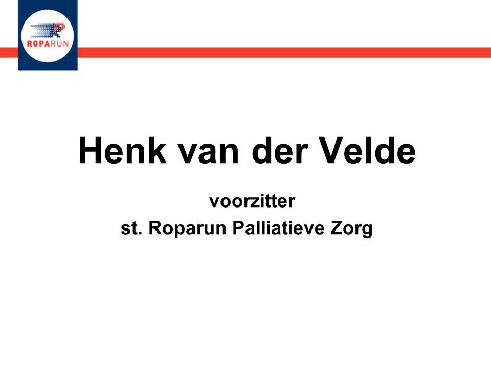 Henk van der Velde voorzitter st. Roparun Palliatieve Zorg