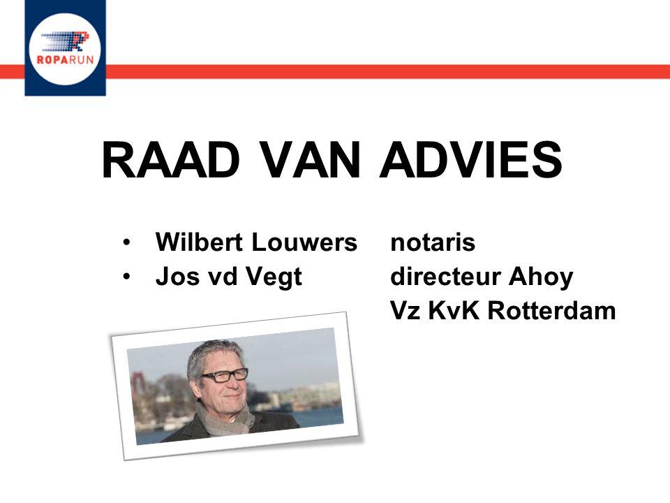 Wilbert Louwers notaris Jos vd Vegt directeur Ahoy Vz KvK Rotterdam