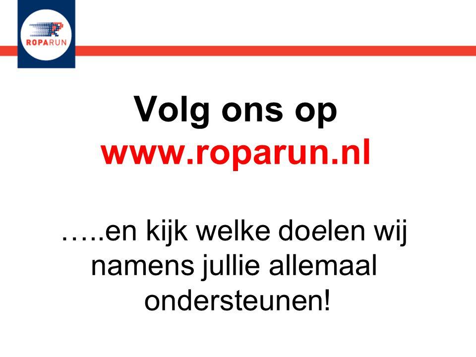 Volg ons op www.roparun.nl