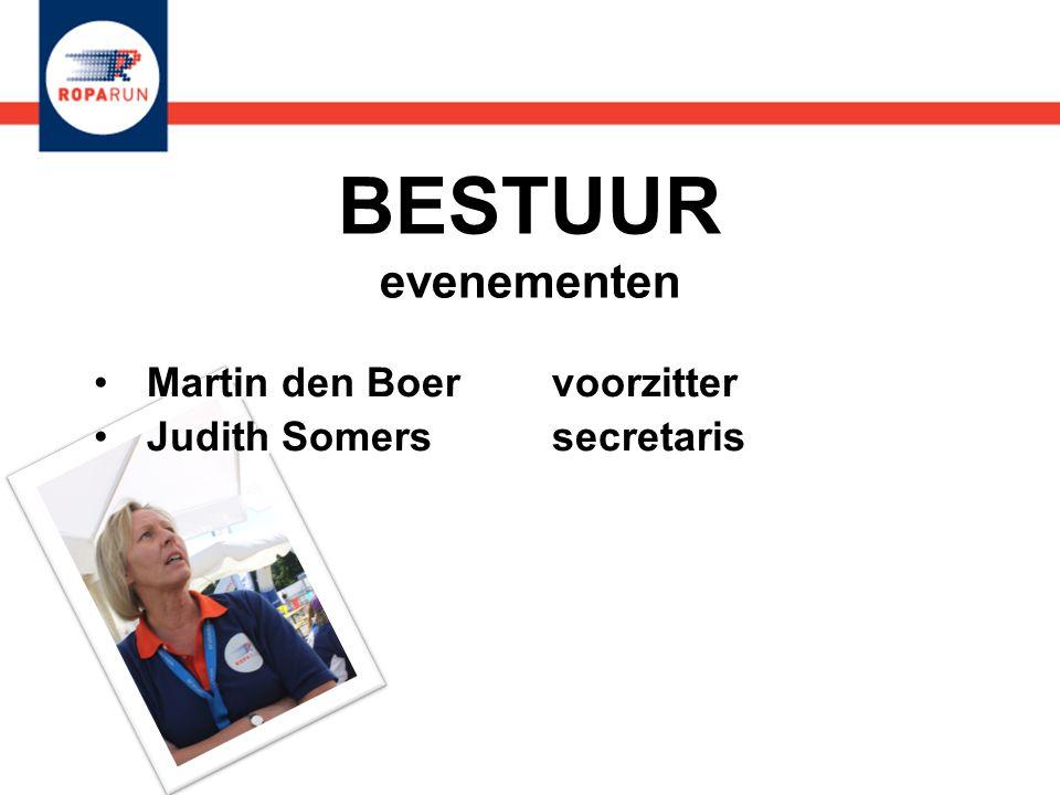 Martin den Boer voorzitter Judith Somers secretaris