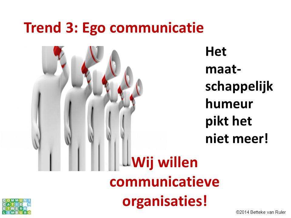 Wij willen communicatieve organisaties!