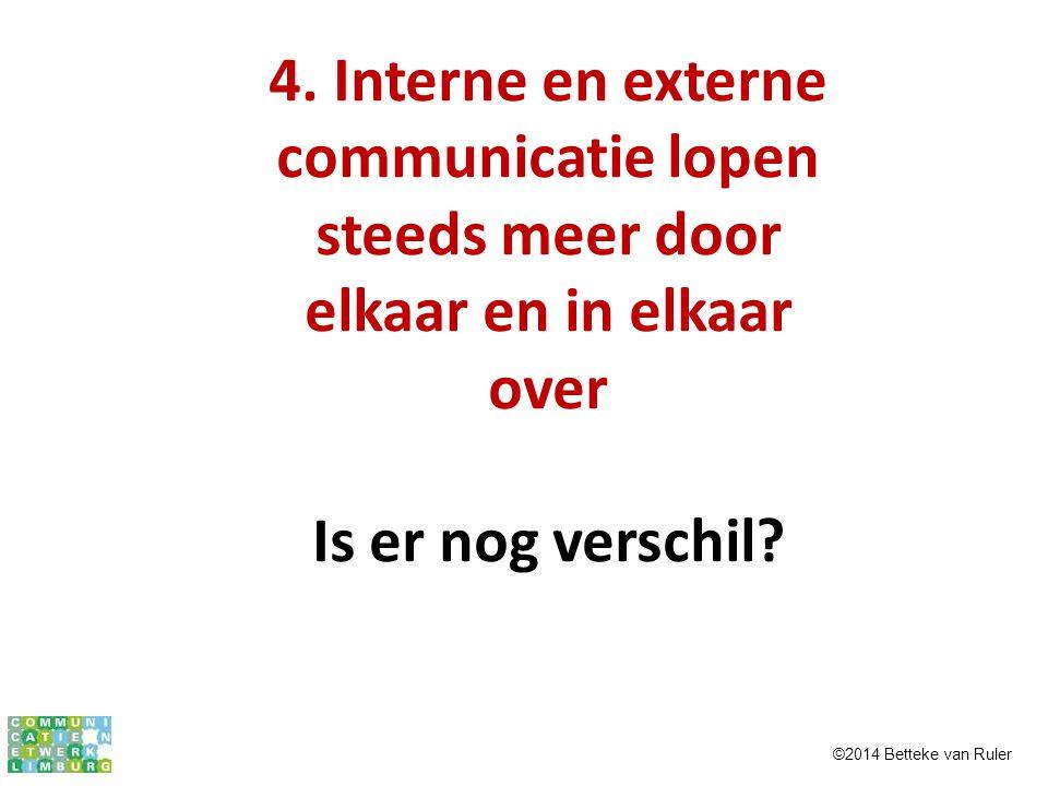 4. Interne en externe communicatie lopen steeds meer door elkaar en in elkaar over
