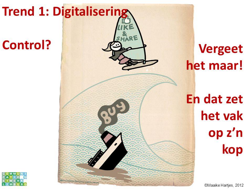 Trend 1: Digitalisering Control Vergeet het maar!