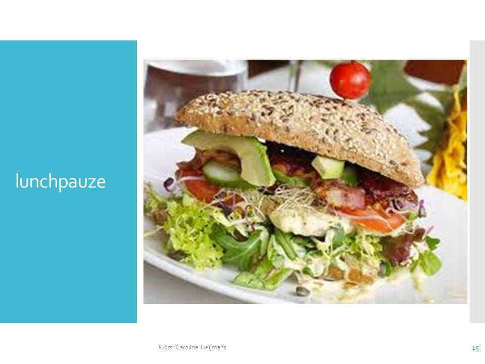 lunchpauze ©drs. Caroline Heijmans