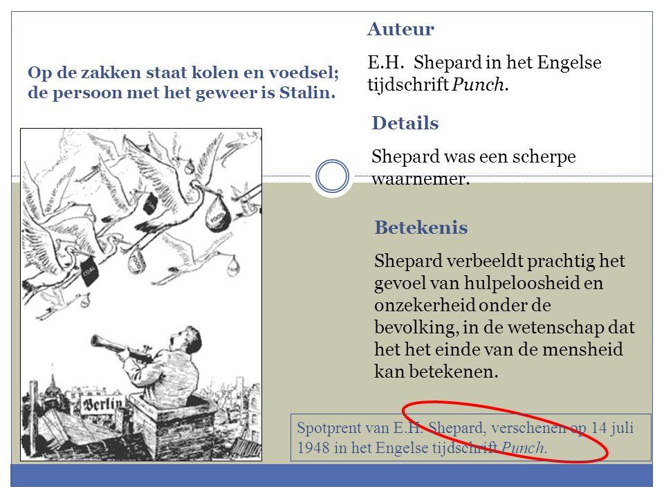 E.H. Shepard in het Engelse tijdschrift Punch.