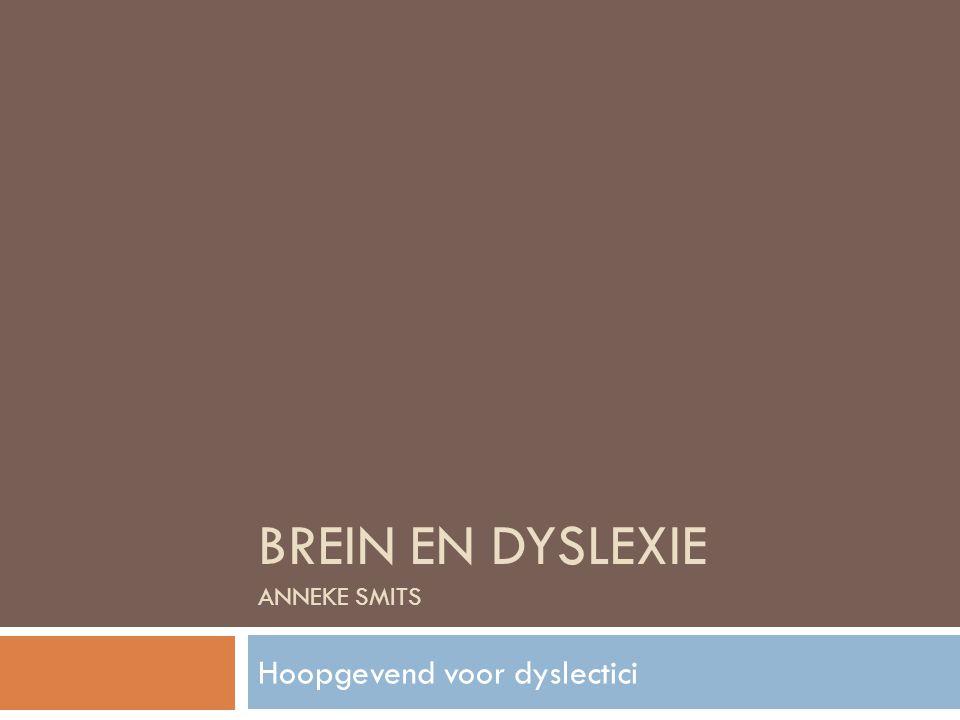 Brein en dyslexie Anneke Smits