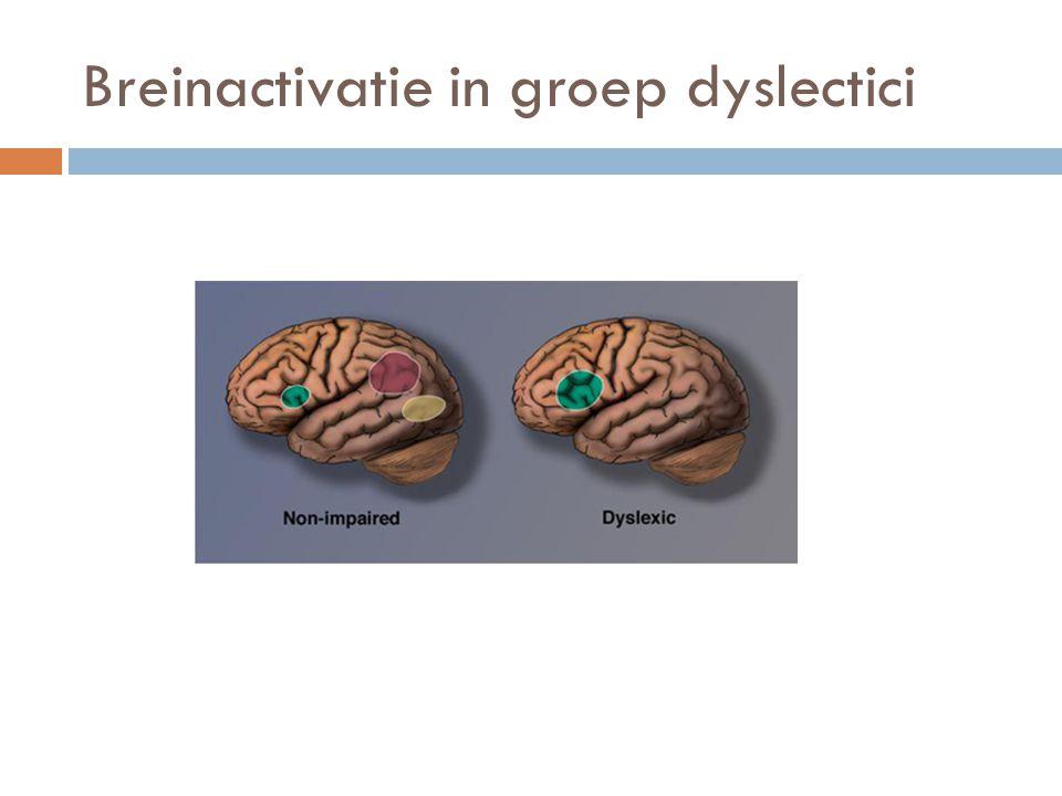 Breinactivatie in groep dyslectici
