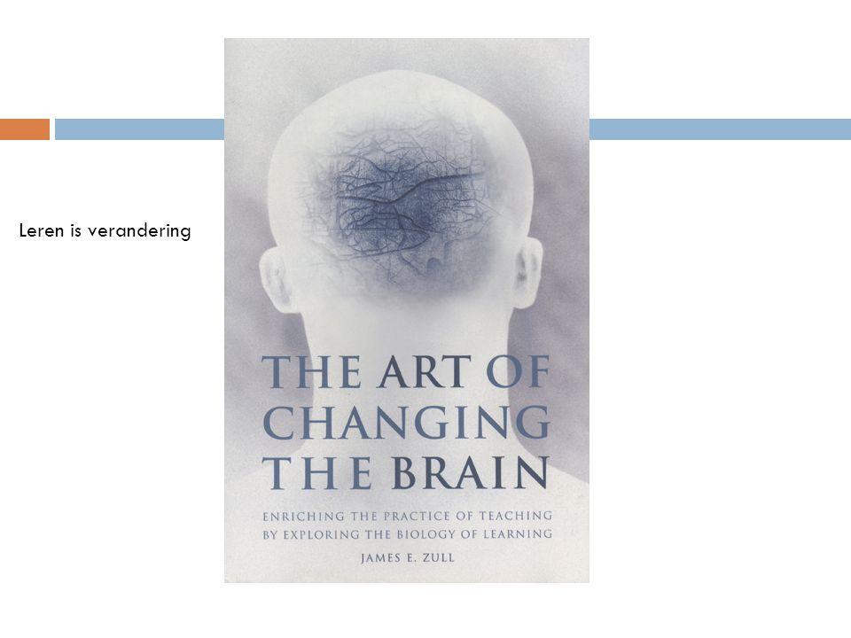 Leren is verandering Van het brein. Leren door informatie om te zetten (hercoderen).