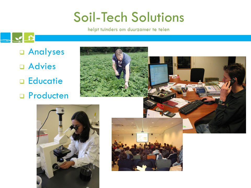 Soil-Tech Solutions helpt tuinders om duurzamer te telen
