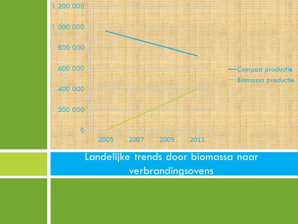 Landelijke trends door biomassa naar verbrandingsovens