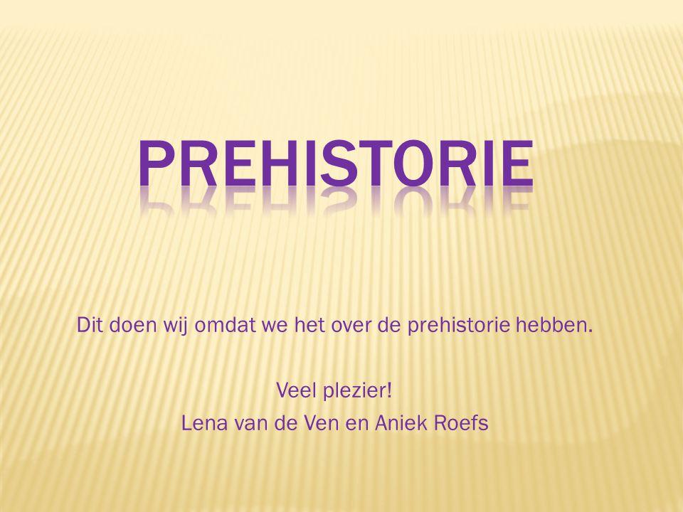 prehistorie Dit doen wij omdat we het over de prehistorie hebben.