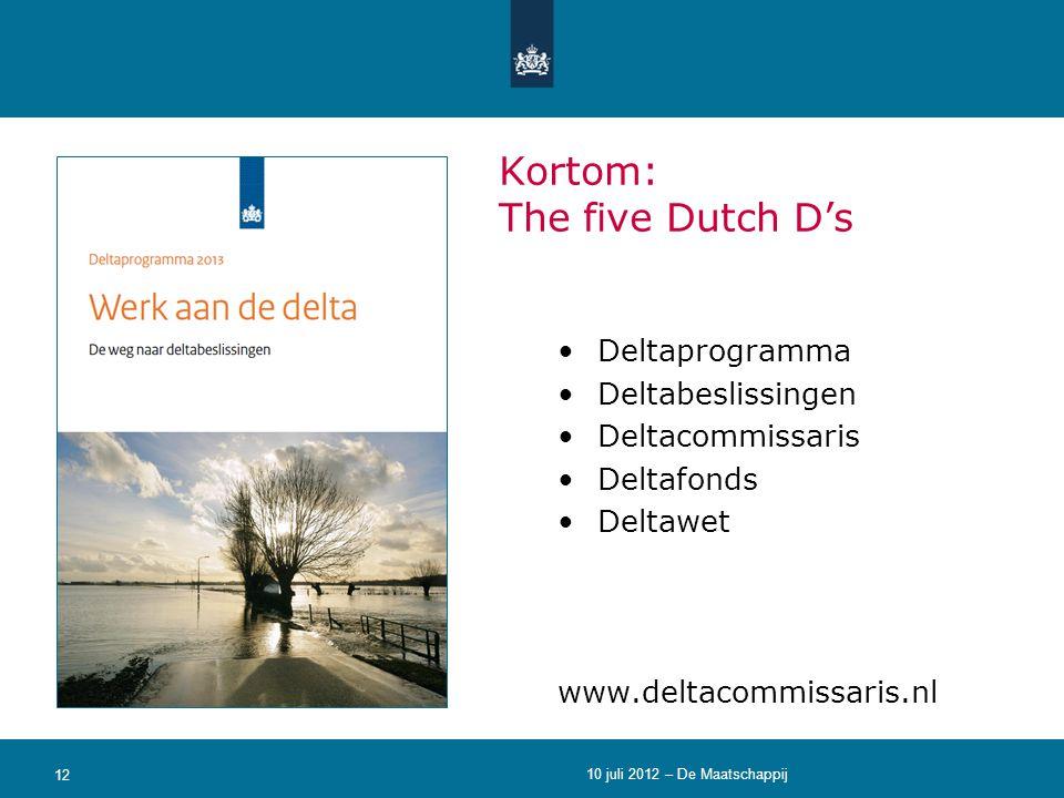 Kortom: The five Dutch D's