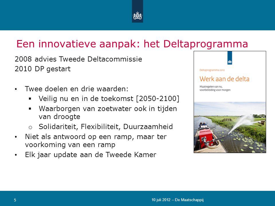 Een innovatieve aanpak: het Deltaprogramma