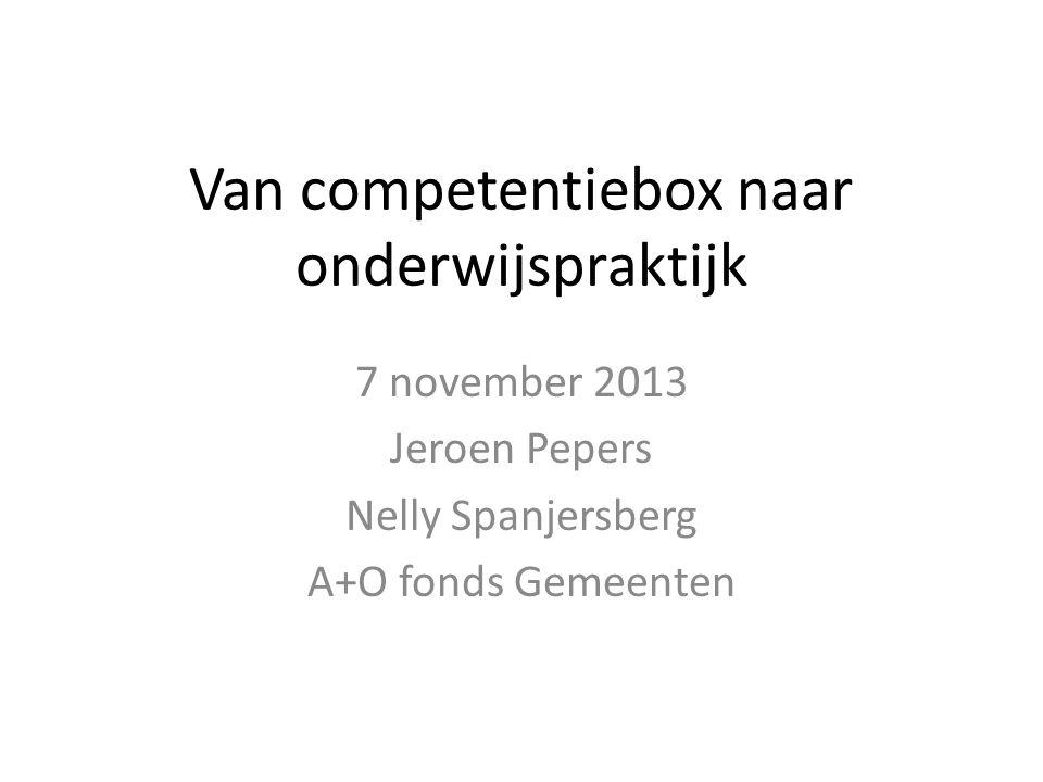 Van competentiebox naar onderwijspraktijk