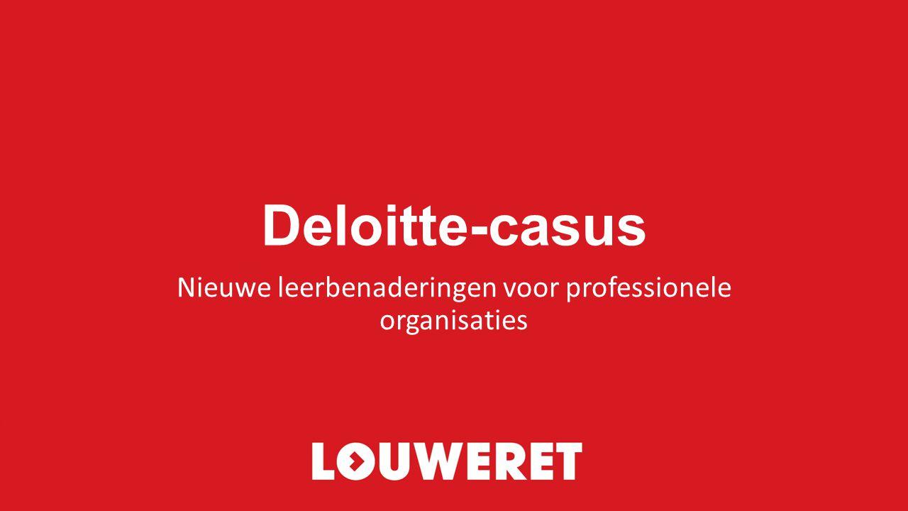 Nieuwe leerbenaderingen voor professionele organisaties