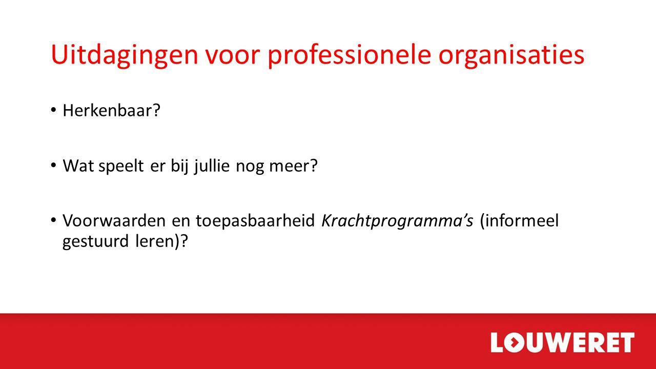 Uitdagingen voor professionele organisaties