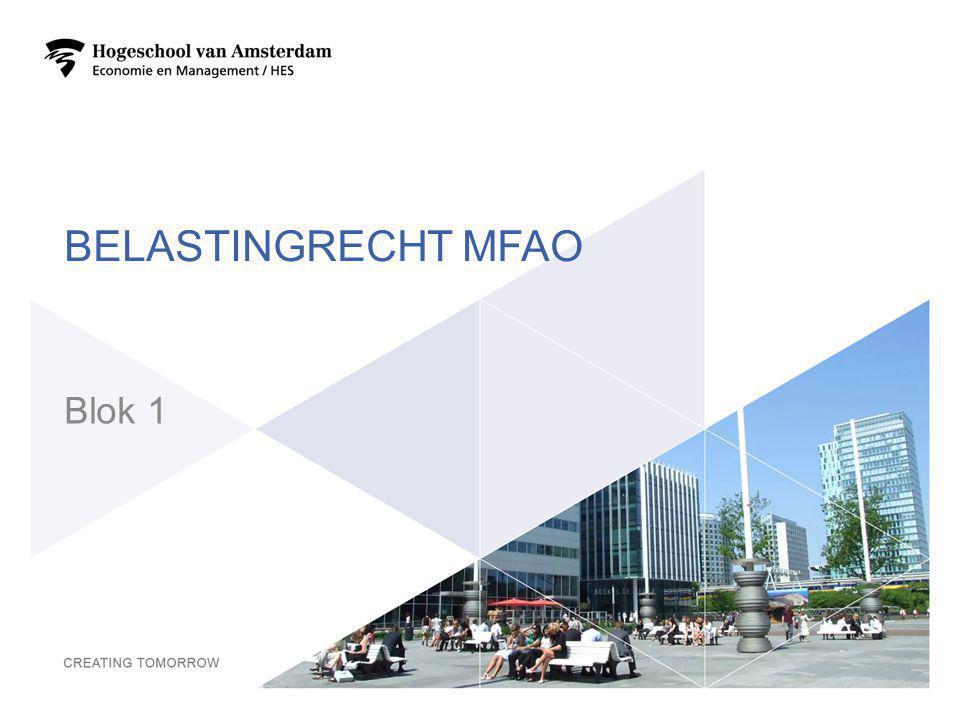 Belastingrecht MFAO Blok 1