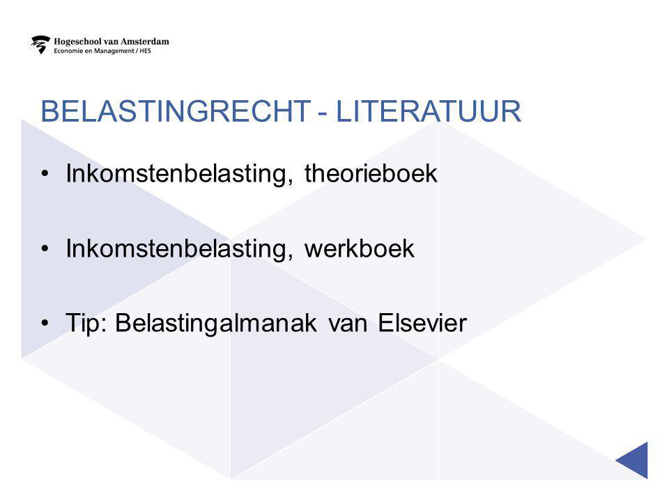 Belastingrecht - literatuur
