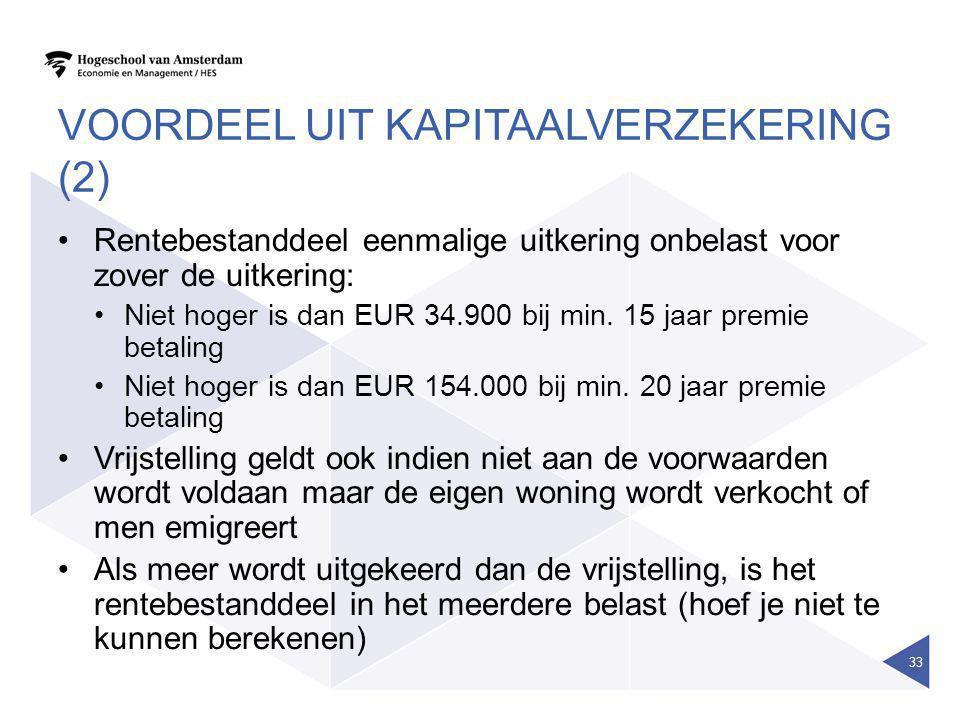 Voordeel uit kapitaalverzekering (2)