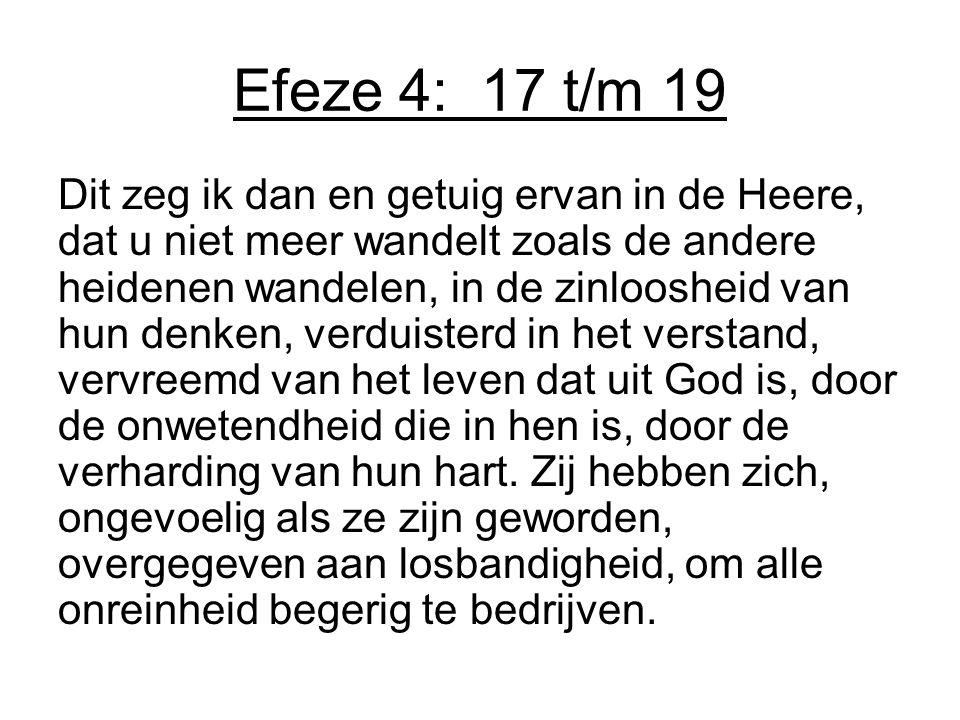 Efeze 4: 17 t/m 19