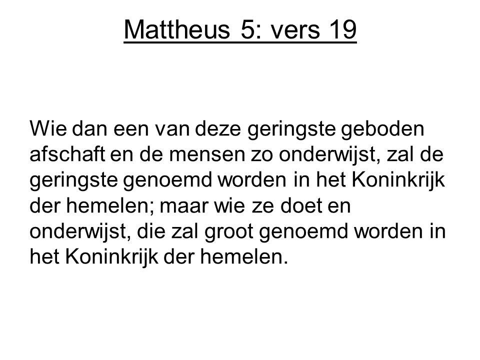Mattheus 5: vers 19