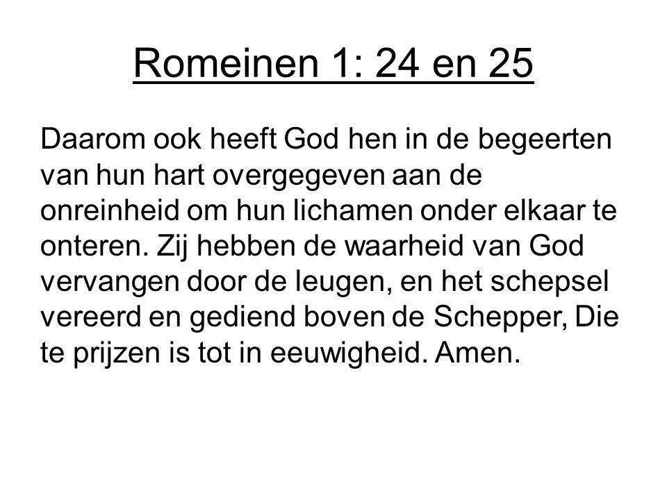 Romeinen 1: 24 en 25