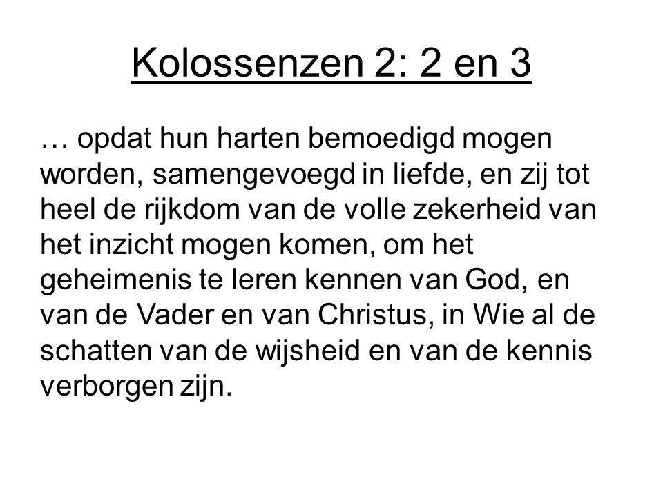 Kolossenzen 2: 2 en 3