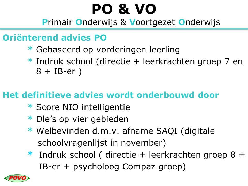 PO & VO Primair Onderwijs & Voortgezet Onderwijs