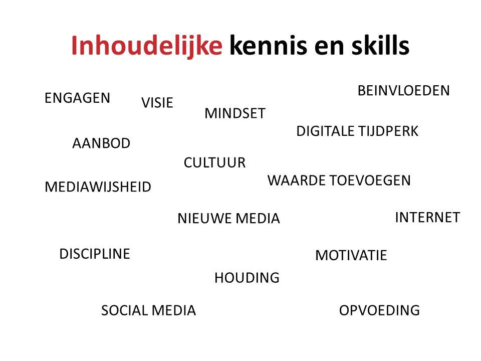 Inhoudelijke kennis en skills
